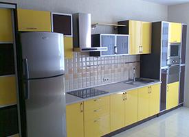 Кухня с фасадом из акрила